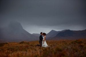 a wedding photo from the isle of skye