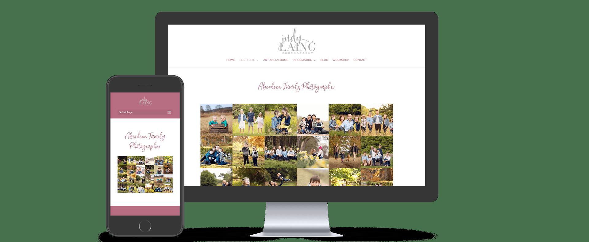 image of a desktop and mobile website for the inverness website design page