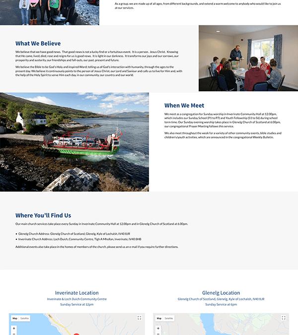 Glenelg and Inverinate Free Church Website