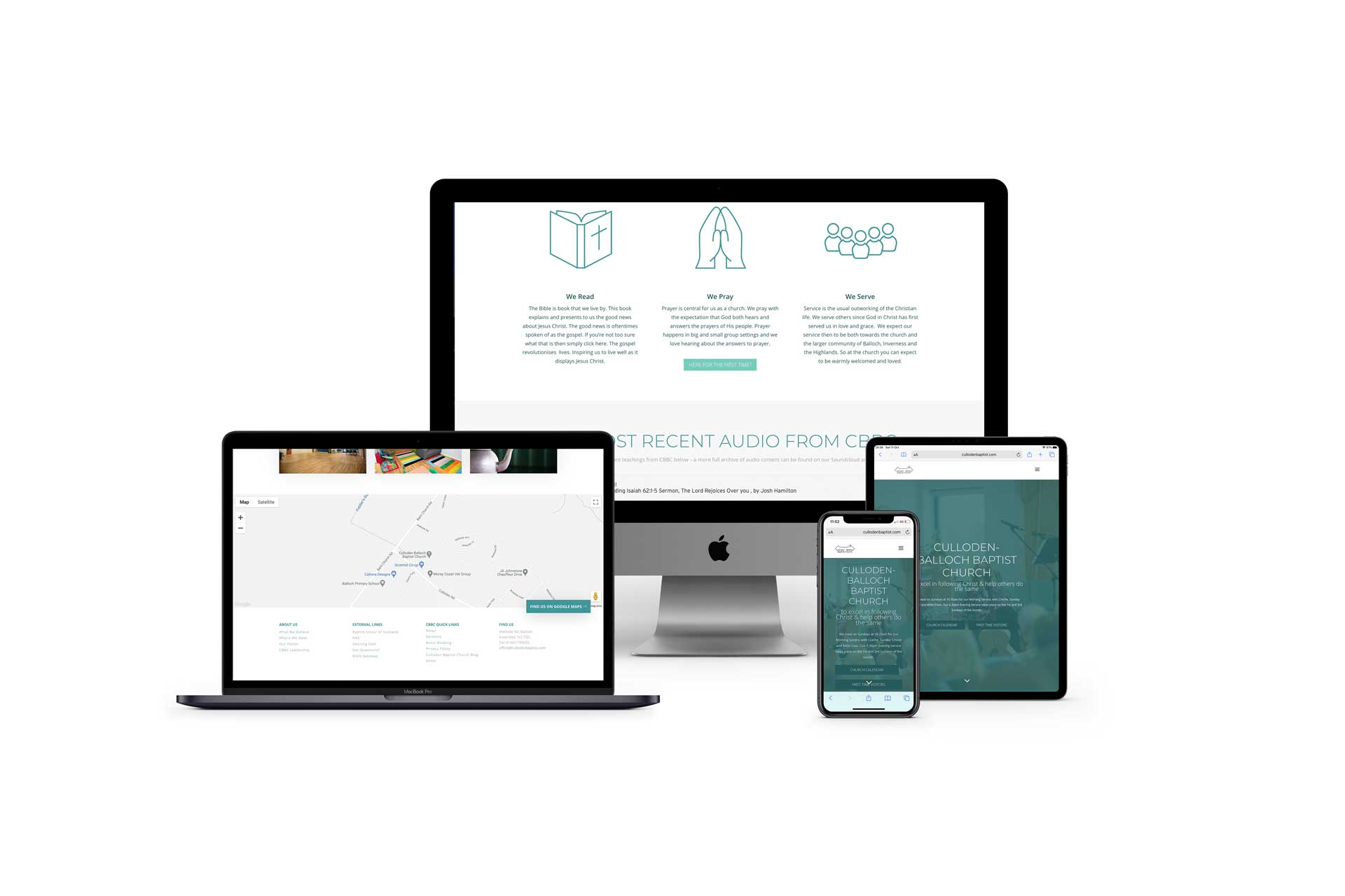 a screenshot of the culloden baptist church website