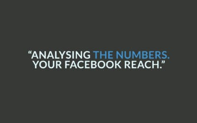Facebook reach. Understanding the numbers that you should be looking at on your Facebook page.